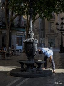 Barcelona Taking a drink